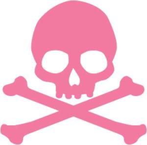 Pink Skull And Crossbones