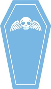 Cute Blue Coffin