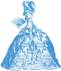 18th Century Lady Blue