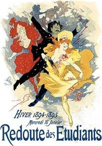 Vintage Dance Hall Poster Art