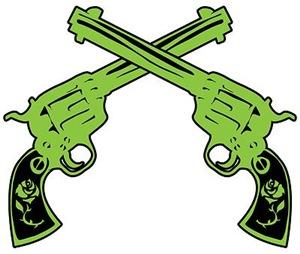 Green Crossed Pistols