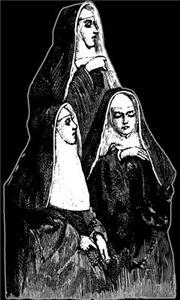 Vintage Illustration Of Nuns