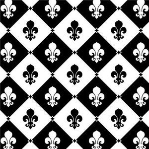 Black And White Fleur De Lis Pattern