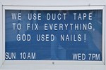 Religious Humor: Duct Tape