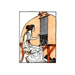 Woman Weaving at Loom - Greek