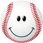 Baseball Smiley Face