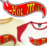Hot flame design Milf T shirts