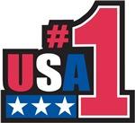 No. 1 USA T-Shirts