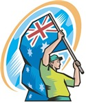 Aussie Flag Bearer T-Shirts