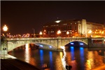 Philadelphia Pa. Chestnut Street Bridge at Night