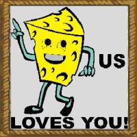 cheesus loves you