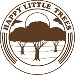 happy little trees (brown)