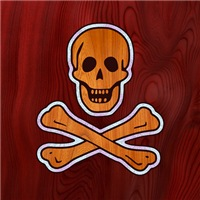 Teak Inlaid Pirate
