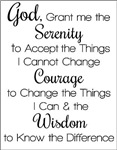 Serenity Prayer Black and White