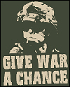 give war a chance, I support the troops, pro-war t-shirt and tees, also t shirts,