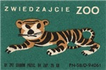 Tiger Matchbox Label