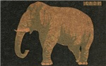 Elephant Matchbox Label