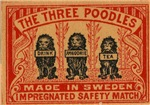 3 Poodles Matchbox Label
