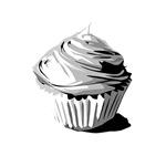 Grey cupcake