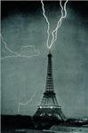 Eiffel Tower Lightening Strikes