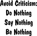 Avoid Criticism