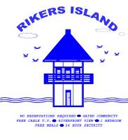 HUMOR/RIKERS ISLAND