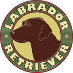 Chocolate Lab Crest