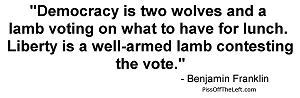 Franklin: Democracy is two wolves