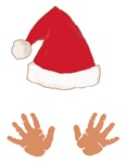 Baby Hands and Santa Hat