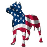 patriotic pit bull design