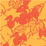 Japanese Print (Orange Leaves)