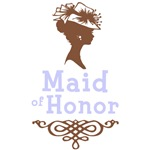 Cameo Maid of Honor (Periwinkle & Brown)
