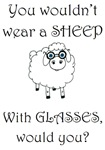 Sheep with glasses (PETA)
