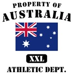 Property of Australia Athletic Dept.