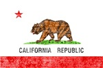 CALIFORNIA FLAG T-SHIRT (DISTRESSED IMAGE)
