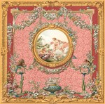 Victorian design in soft pastel tones