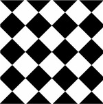 Argyle Diamond Harlequin Pattern Black and White