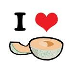 I Heart (Love) Cantelope (Melon)