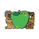 Silly Bears with Green Apple