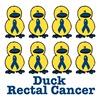 Rectal Cancer Ribbon Ducks
