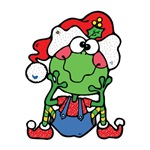 Silly Christmas Froggy