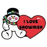 I Love Snowmen Design