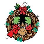 Cute Christmas Moose Wreath