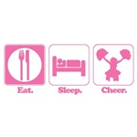 Eat. Sleep. Cheer. (Cheerleader)