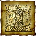 Celtic Knotwork Letter I