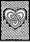 Celtic Knotwork Heart Illustration