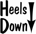 heels down arrow