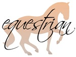 horse with equestrian text
