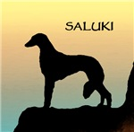 Saluki Sunset Cliff