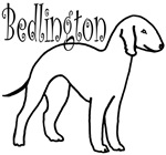 Bedlington Terrier Dog w/ Curly Text